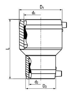 Protecta-Line 45 Elbow Technical Drawing