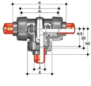 dp 3 way ball valve L port diagram
